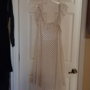 BNWT M OLD NAVY CREAM W/BLACK DOTS CAMI DRESS